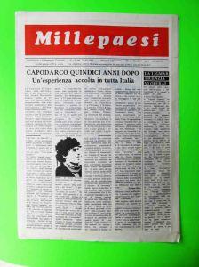 Uno dei primi numeri a stampa di Millepaesi datato giugno 1982